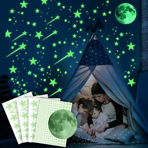 Glow In The Dark Stickers Decoration Set Luminous Wall and Ceiling Decals Ezigoo
