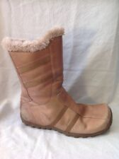 Aldo Brown Mid Calf Leather Boots Size 40