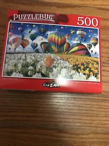 Balloon Flower Field PUZZLEBUG 500 Pieces Jigsaw Puzzle