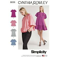 Simplicity Sewing Pattern 8636 Women's Ruffle Dress or Top Blouse