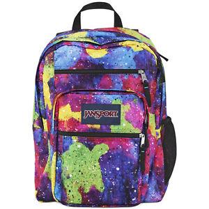 NWT - JANSPORT 'BIG STUDENT' Multi-Neon Galaxy SCHOOL BOOK BAG BACKPACK - O/S