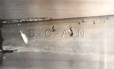 WWII German DAK Large RP- Soldier- Semi Nude- Afrika Korps- Beach- Swimming- 40s