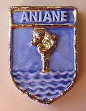 Fève Plaque de Gâteau Décoration du MH 2013 - Ecusson de Aniane dans l' Hérault