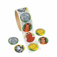 24 Zoo Animal Stickers   Safari Party Favors    Jungle Party Supplies  Craft