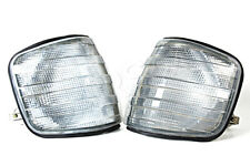 MERCEDES S-Class W126 Sedan 81-91 Grey Corner Lights Larmps Turn Signals SET