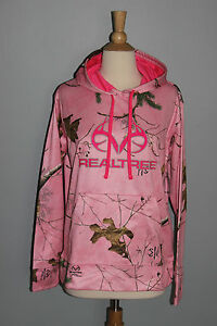 LADIES New Camo Pink REALTREE Hoodie Womens S M L XL Hunting Hooded Sweatshirt