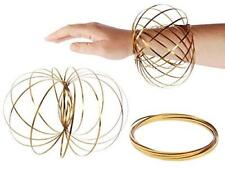 GOLD Magic Flow Rings Toys Funny Kinetic Spring Arm Slinky Juggle Dance Gifts
