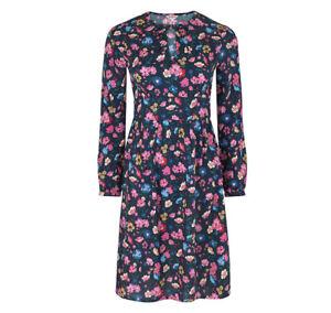 Cath Kidston Long Sleeved Park Meadow Tea Dress Size 16