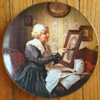 Knowles Norman Rockwell Grandma's Love Golden Moments Collector 2nd Plate,COA IB