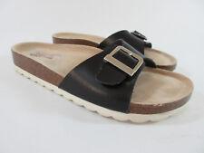 Skechers Crunchy Memory Foam Organic Slide Sandals Black Women's Size 7