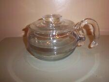 Vintage Pyrex 6 Cup Flameware Tea Pot with locking lid,#8446-B