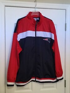 MAJESTIC PATRIOTS Red/White/Blue Jacket. Size 4XL. NEW.