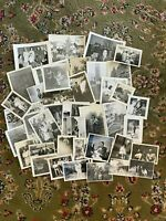 #4 Lot of 45 Vintage Black and White Photographs Snapshots