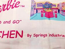 New listing Barbie's Fold and Go Kitchen Cotton Yard Panel Spring Creative