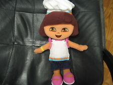 "13"" plush Dora Explorer in Chef hat, kitchen outfit"