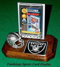 Oakland Raiders NFL Sports Card Display Holder Helmet Logo Gift
