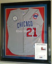 426bc9b6a SAMMY SOSA Signed Framed Cubs Jersey w  Harry Caray Patch PSA DNA Autograph  LOA