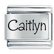 CAITLYN Name  - Daisy Charms by JSC Fits Classic Size Italian Charm Bracelet