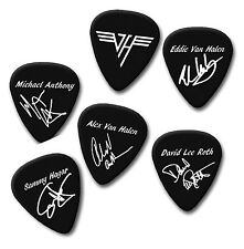 Eddie Van Halen Alex David Lee Roth Firma Stampa CHITARRA Plettro Pick Plettri