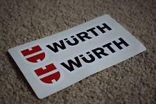 WURTH Racing Rally Motorsport Audi BMW Mercedes Car Stickers 100mm