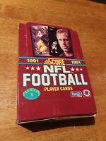 Score 1991 Series 1 NFL Football Trading Cards 36 Ct Opened Box 36 Packs Sealed