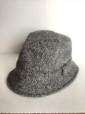 Vintage Wool Burberrys London Hat Tweed Donegal 7 1/8, 58