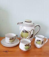 Denby Troubadour 2 1/4 Pint Coffee/Tea Pot, Cup & Saucer, Jug & Bowl Set