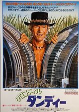Crocodile Dundee 1986 Paul Hogan Japanese Chirashi Mini Movie Poster B5