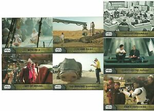 2015 Topps Star Wars The Force Awakens Series 1 BEHIND THE SCENES SET of 7