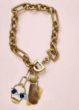CELINE Face Necklace Gold Patchwork Abstract Chain Collar Phoebe Philo RARE