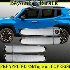 2015 2016 2017 JEEP RENEGADE TRIPLE Chrome Door Handle COVERS NO smart key holes