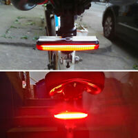 COB Cycling LED Rechargeable Bike Bicycle Tail Warning Safety Rear Light