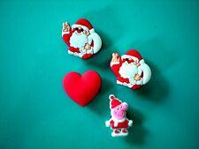 Clog Shoe Charm For Accessories Fits Wristband Bracelet Santa Heart