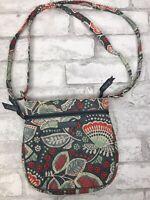 Vera Bradley Nomadic Floral Quilted Crossbody Bag Pursed Shoulder Strap