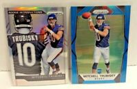 Mitchell Trubisky 2017 Panini Prizm Blue Prizms #209 SP RC /199 & Silver #6 Lot