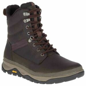 "Merrell Mens Tremblant 8"" Polar Waterproof Ice+ Vibram Arctic-Grip Walking Boots"