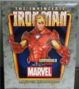 Bowen Designs IRON MAN (Unmasked) Tony Stark Mini Bust 2011 Marvel