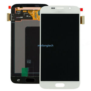 For Samsung Galaxy S6 G920F G920 LCD Display Touch Screen Digitizer white+cover
