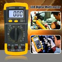 LCD Digital Multimeter Voltmeter AC/DC Ohmmeter Ammeter Capacitance OHM Tester