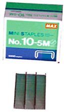 5000 Max 10 5m Mini Staples For Max Hd 10dfl Flat Clinch Stapler Series 1 Box