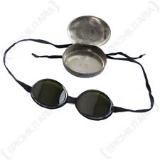 Original Swiss Snow Goggles with Case - Army Surplus Sun Glasses Vintage Reto
