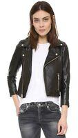 Women Leather Jacket Black Biker Moto Cropped Lambskin Size S M L XL XXL Custom