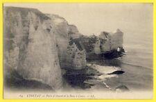 CPA Belle vue ETRETAT en 1907 (Seine Maritime) PORTE d'AMONT et le BANC à CUVES