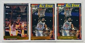 3 CARD LOT: Michael Jordan 1992-93 Topps Gold Foil Parallel RARE SP BULLS