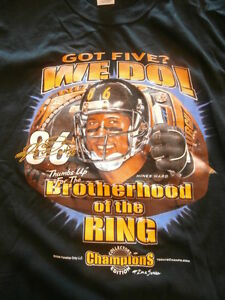 Pittsburgh Steelers NFL Got Five? We Do Hines Ward Shirt Large Champions Edition