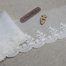 14Yds Broderie Anglaise mesh eyelet lace trim 7cm lvory YH1430 laceking2013