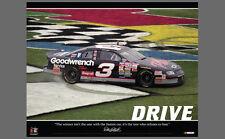 Dale Earnhardt DRIVE 1998 Daytona 500 Victory VIntage Classic NASCAR Poster