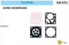 KIT RIPARAZIONE + MEMBRANE membrana CARBURATORE TILLOTSON DG5HU DG 5 HU
