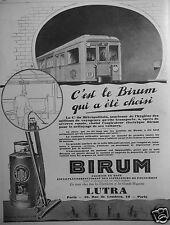 PUBLICITÉ 1927 ASPIRATEUR ÉLECTRIQUE BIRUM LUTRA - ADVERTISING
