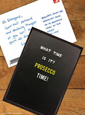 Brainbox Candy 'Prosecco Time' Postcard Funny Comedy Humour Novelty Cheeky Joke
